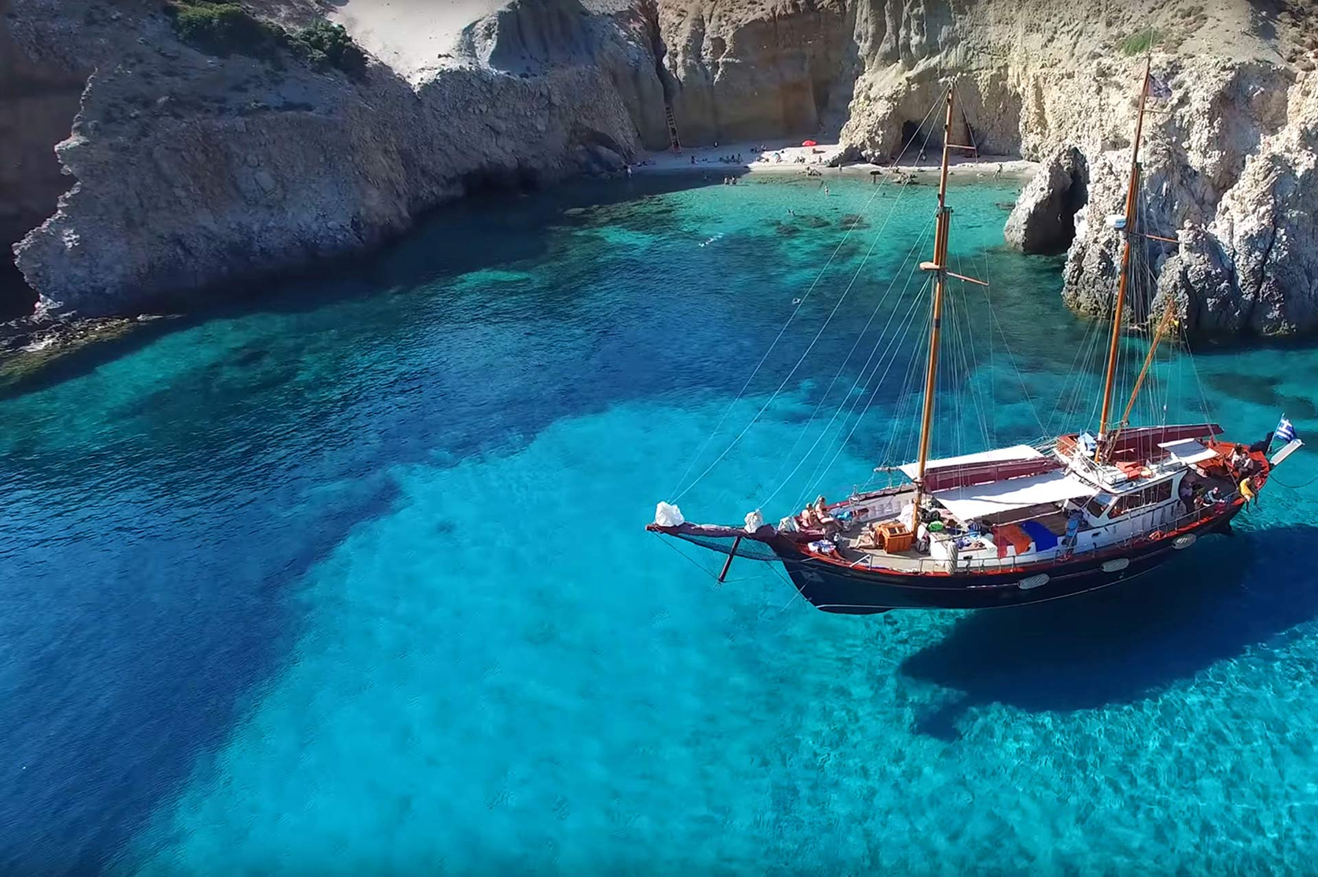 top yacht charter destinations mediterranean greece cyclades milos gallery 4