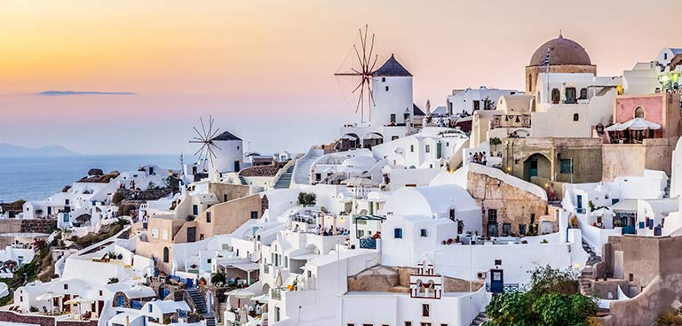 top yacht charter destinations mediterranean greece cyclades santorini preview