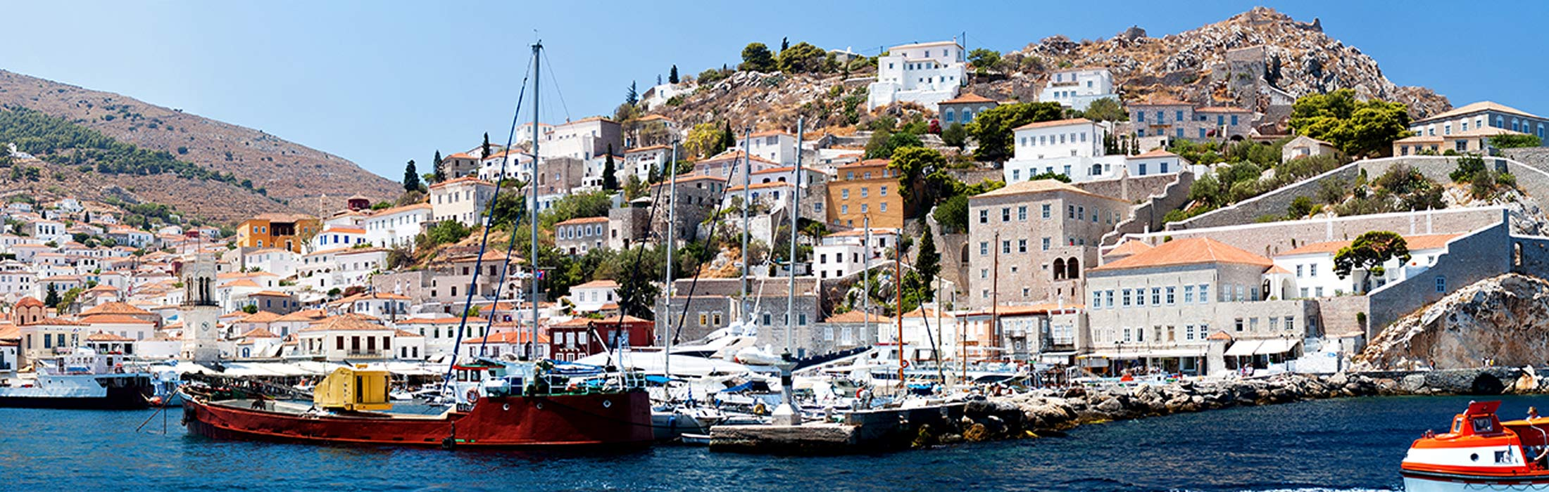 top yacht charter destinations mediterranean greece saronic gulf hydra main slider 2