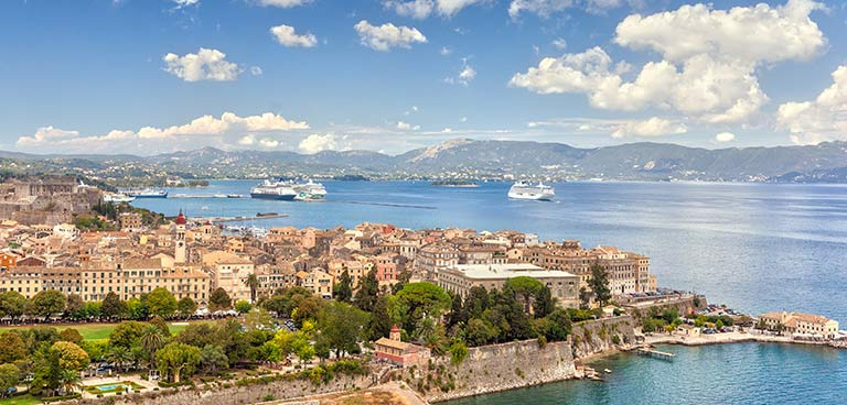 top yacht charter destinations mediterranean greece ionian islands corfu preview