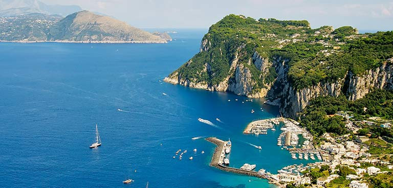 top yacht charter destinations mediterranean italian coast capri preview