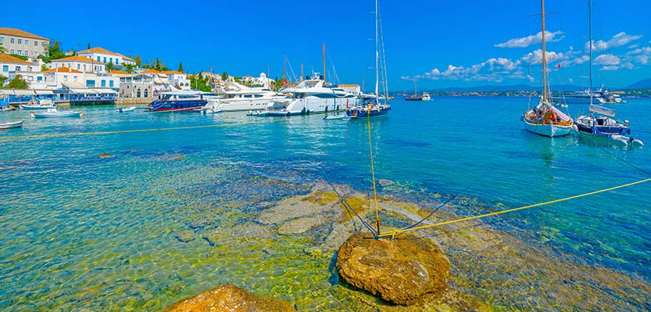 top yacht charter destinations mediterranean greece saronic gulf spetses preview