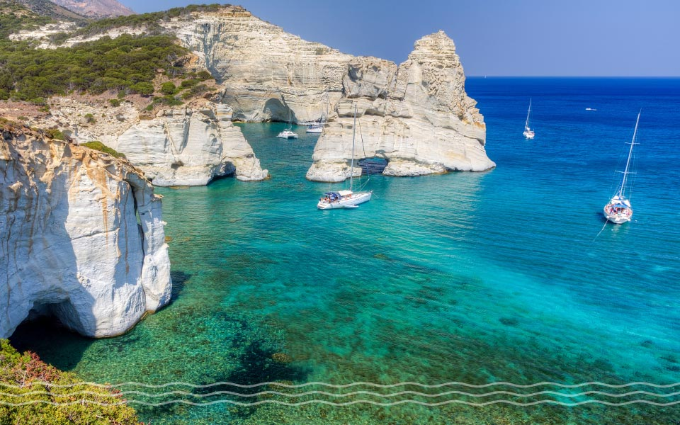where to charter off season in Greece Milos