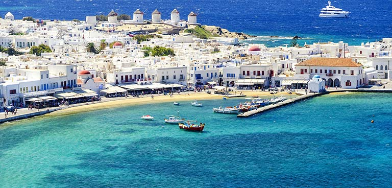 top yacht charter destinations mediterranean greece cyclades mykonos preview